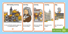 The Great Fire of London Events Timeline Display Posters