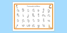 Tapiz de formación de letras - Mi cuerpo