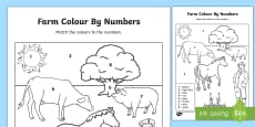 Farm Colour by Numbers