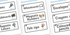Blackbird Themed Editable Writing Area Resource Labels
