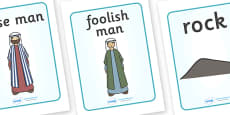 The Wise Man And The Foolish Man Display Posters