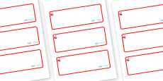 Cherry Themed Editable Drawer-Peg-Name Labels (Blank)