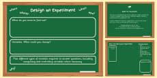 Scientific Enquiry Planning Template