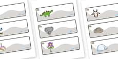 Rhino Themed Editable Drawer-Peg-Name Labels