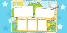 Story Review Writing Frame to Support Teaching on Titch