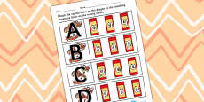 Chinese New Year Themed Capital Letter Matching Activity Sheet