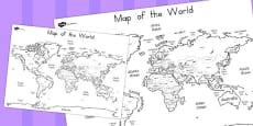 Australia - World Map Labelling Sheet