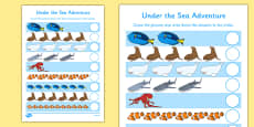 Under the Sea Adventure Counting Activity Sheet