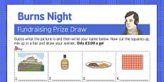 Burns Night Fundraising Sheet