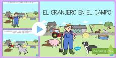 El granjero en el campo PowerPoint