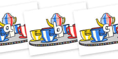 Phase 2 Phonemes on Fairground Teacups