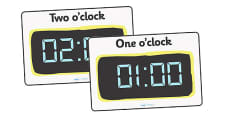 Digital Clocks - Hourly O'Clock