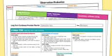 Construction Area Editable Continuous Provision Plan Nursery FS1