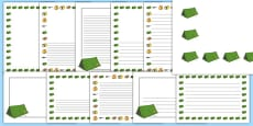 Camping Page Borders