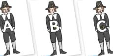 A-Z Alphabet on Pilgrims