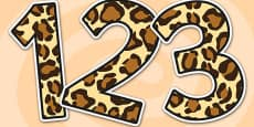 Leopard Pattern Display Numbers