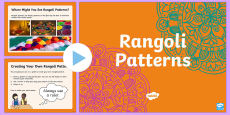 KS1 Rangoli Maths Patterns PowerPoint