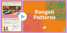 KS1 Rangoli Maths Patterns PowerPoint