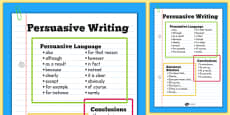 Persuasive Writing Poster