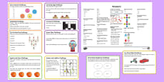 KS1 Mixed Maths Challenge Cards