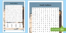 Inuit Culture Word Search