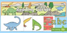 Reading Corner Dinosaur Themed Display Pack