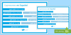 Spanish Expressions Display Poster