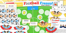 Blends and Clusters Football Board Game