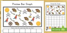 * NEW * Pirate Themed Bar Graph Activity Sheet