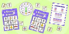 k Sound Bingo Game with Spinner