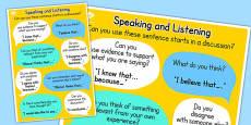 Speaking and Listening Talk Frames Poster