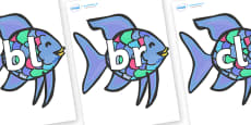 Initial Letter Blends on Rainbow Fish to Support Teaching on The Rainbow Fish