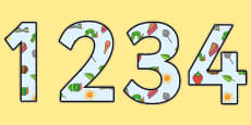 Display Numbers to Support Teaching on The Very Hungry Caterpillar