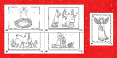 Nativity Christmas Mindfulness Coloring Activity