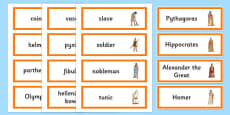 Ancient Greece Word Cards