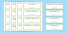 Common Core First Grade Reading Literature Question Stem Cards USA