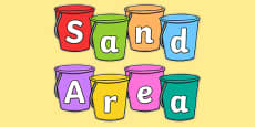 Sand Area on Buckets Display Cut Outs