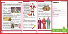 Comprensión lectora de atención a la diversidad: Guía para celebrar la Navidad