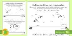 * NEW * Dictado de letras Dot to Dot Activity Sheet
