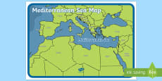 The Mediterranean Sea Map