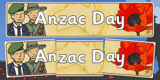 Australia - Anzac Day Display Banner