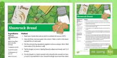 KS2 St Patrick's Day Shamrock Bread Recipe