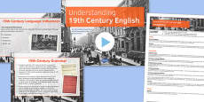 19th Century Context: Understanding the Language of the Time Lesson Pack
