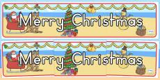 Australia Merry Christmas Display Banner
