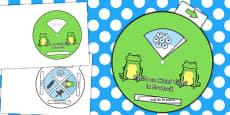 Ciclul de viață la broască - Joc roată cu imagini și cuvinte