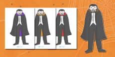 Editable Halloween Vampires (A4)