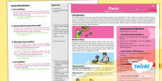 PlanIt - Science Year 3 - Plants Planning Overview