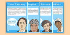 Notable Women in United States History Display Posters