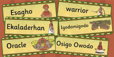 History of Benin, Edo Version of Events Word Cards