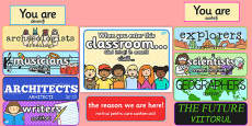 When You Enter this Classroom Display Pack Romanian Translation